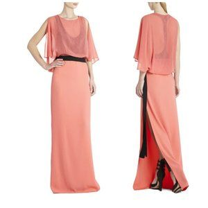"""BCBG Runway """"Paloma"""" Gown in Coral Reef- Sz. Sm"""